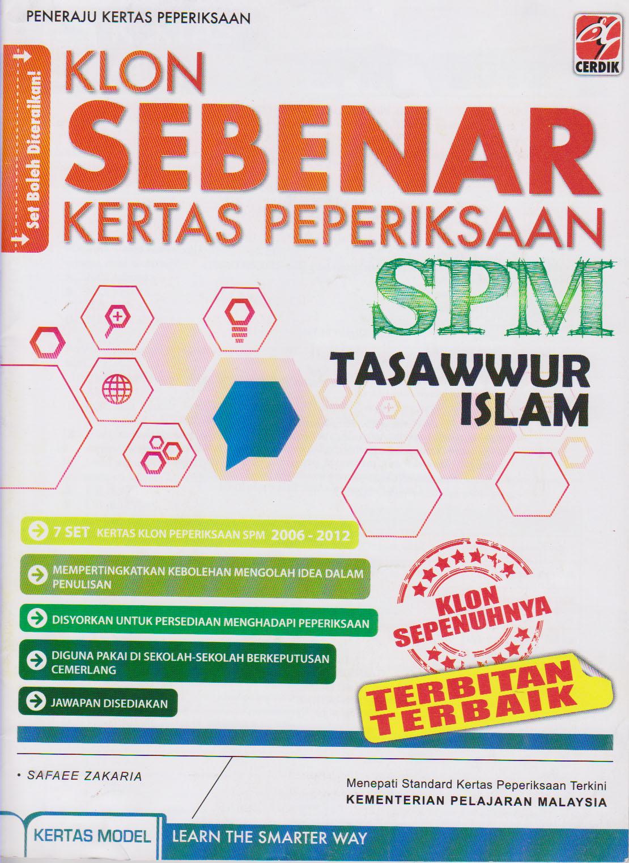 Buku Latihan Klon soalan Sebenar SPM diterbitkan oleh Cerdik